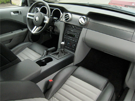 ford mustang interior image